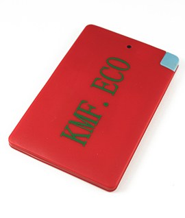 2500mAH Slimline Power Bank Red