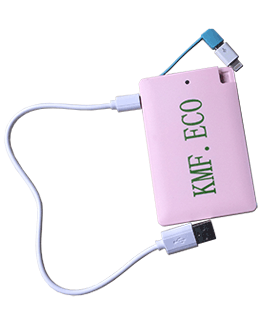2500mAH Slimline Power Bank Pink