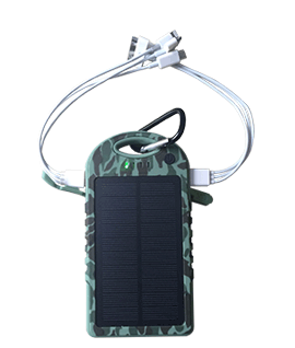Solar Charger Dual Usb 12000 mAh Camouflage