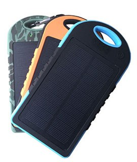 Solar Charger Dual Usb 12000 mAh Camouflage, Orange & Blue